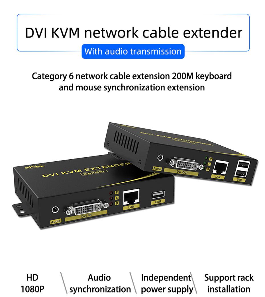 DVI KVM cat6 extender DU200