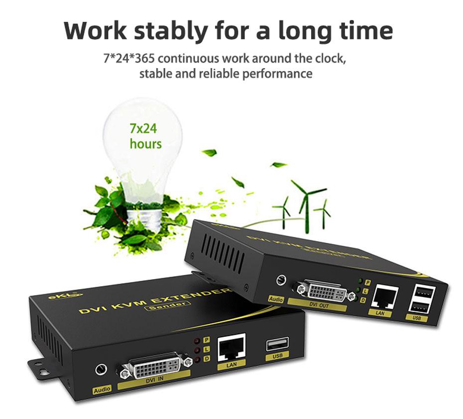 DVI KVM cat6 extender DU200 runs stably for a long time