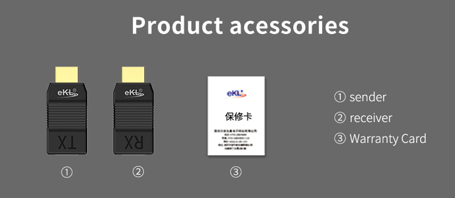HDMI single cable extender EX01 official standard accessories
