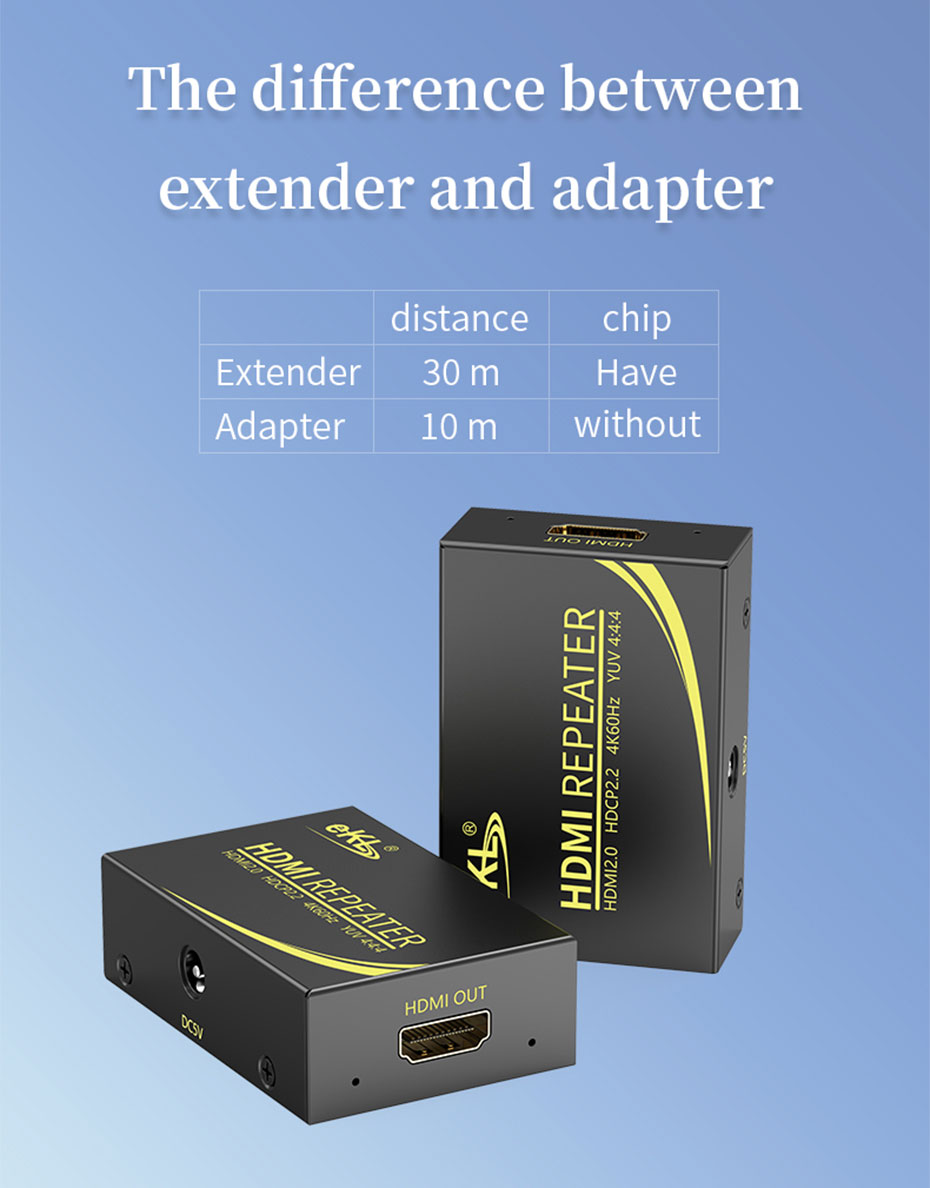 The difference between HA and adapter of 50m HDMI HD signal amplifier