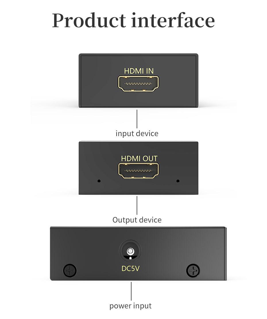 50m HDMI HD signal amplifier extender HA interface description