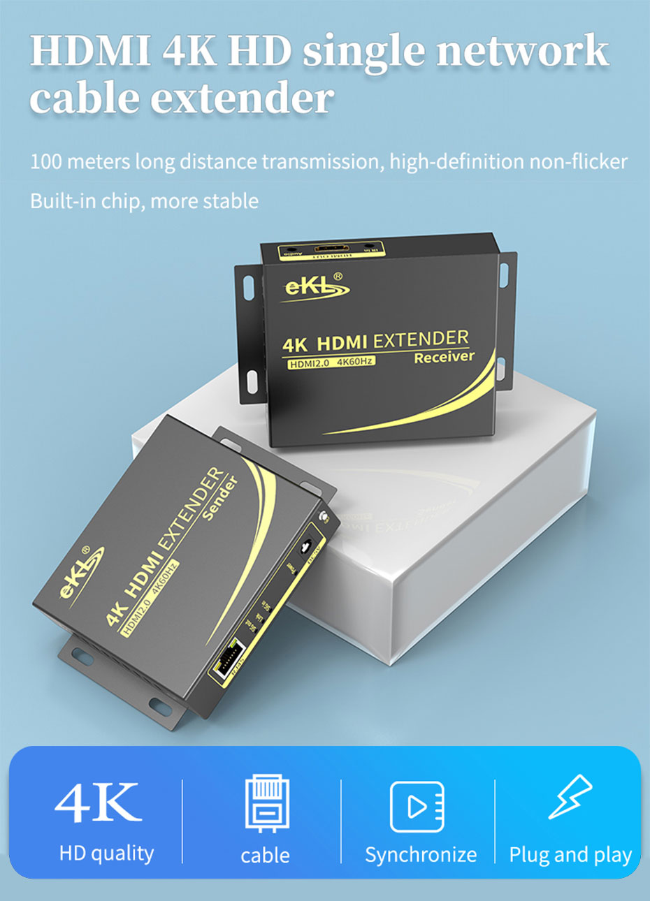 HDMI single cable extender 4K 100m HC100