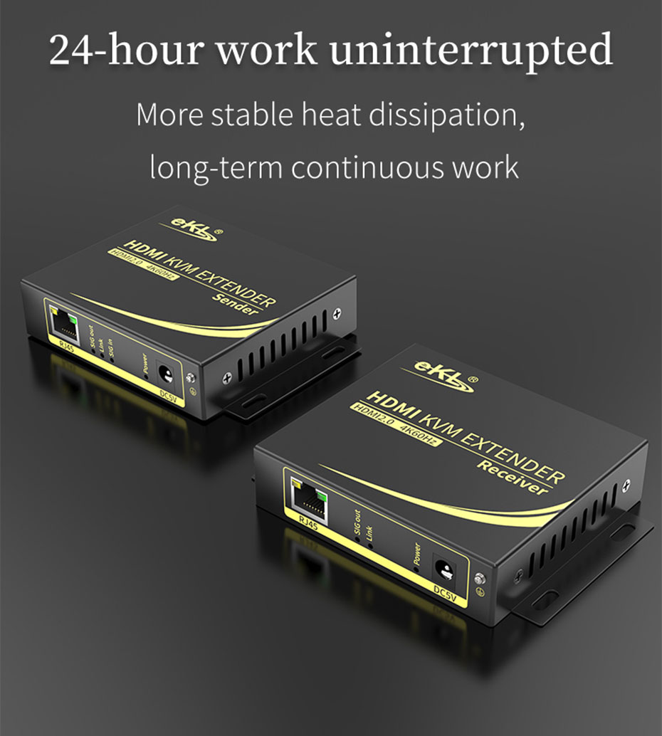 HDMI KVM extender 4K 100 meters HCK100 supports 24 hours stable work