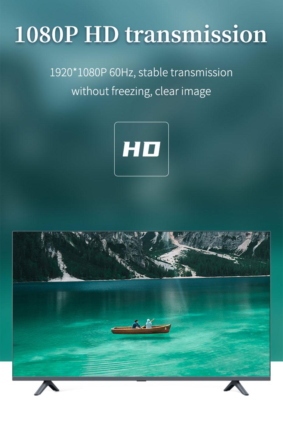 HDMI KVM fiber optic extender HE001 supports 1920*1080p@60Hz HD resolution