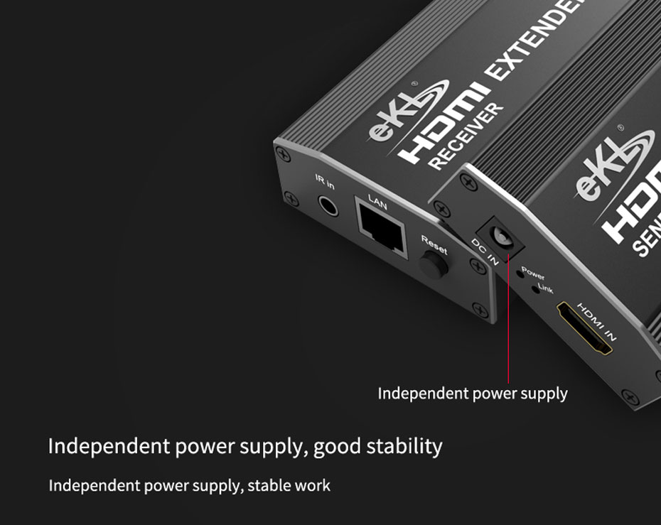 120m HDMI single network cable extender HE120 adopts independent power supply and works stably