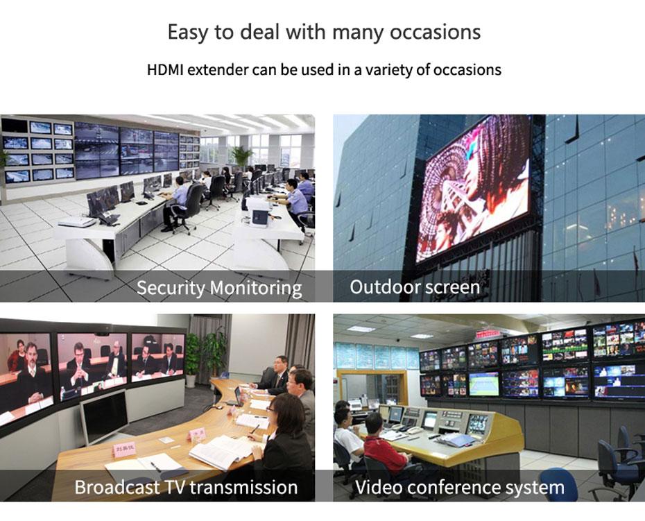 120m HDMI single network cable extender HE120 application scenarios