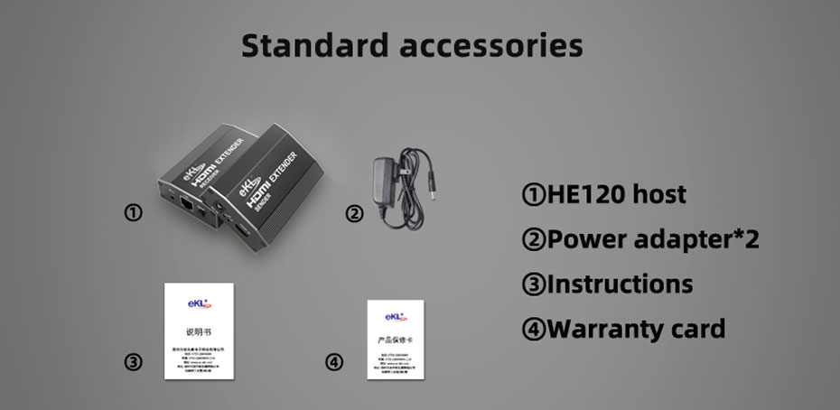 120m HDMI single network cable extender HE120 standard accessories