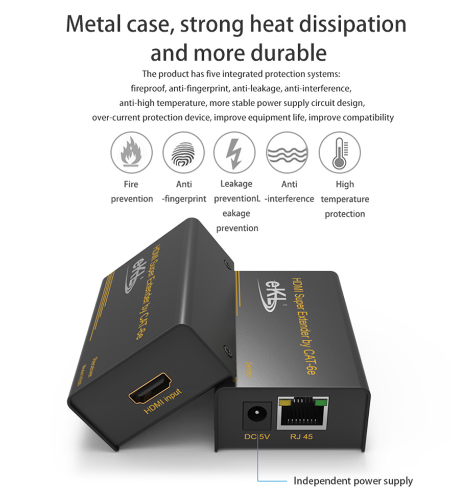 HDMI single cable extender HE60 security protection