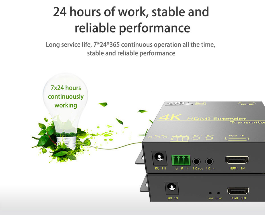 HDMI extender HE70 7*24 hours stable operation, stable and reliable performance