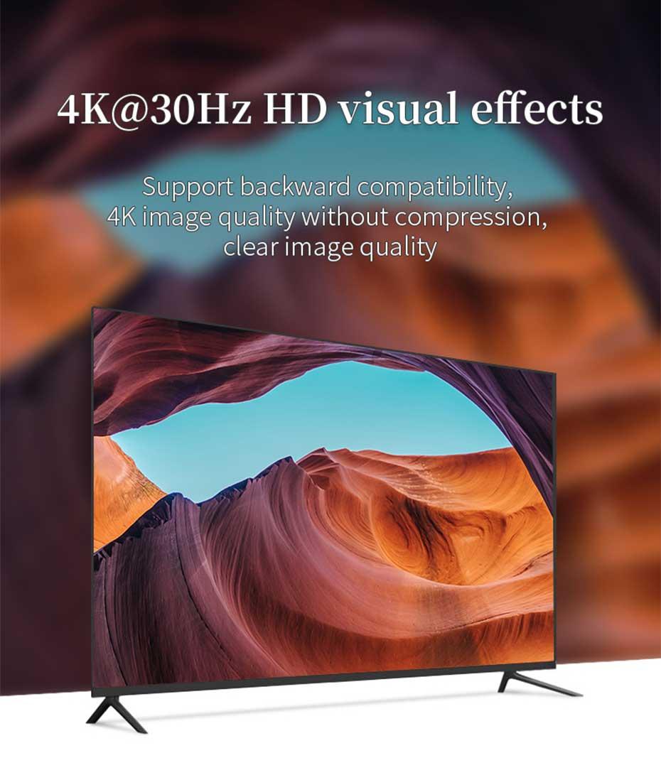 HDMI multi-mode fiber optic extender HF10 supports 4K@30H resolution