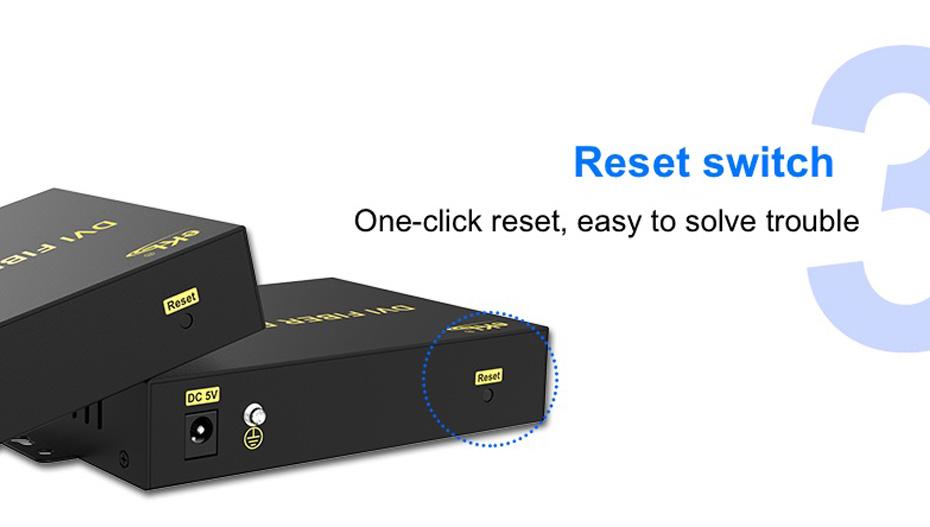 HDMI KVM fiber extender HFKU200 design reset button
