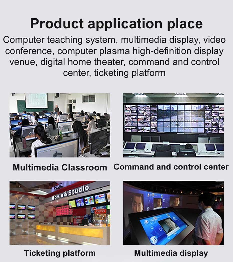 Some application scenarios of HDMI KVM fiber extender HFKU200