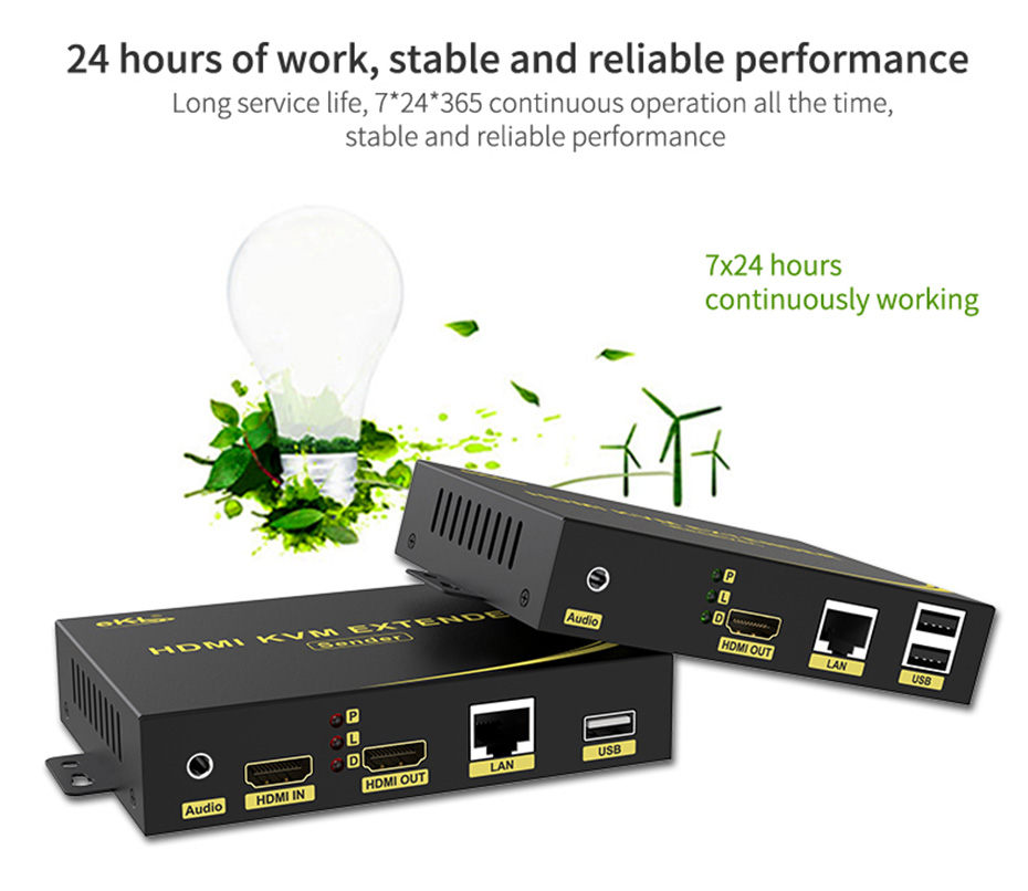 HDMI KVM Network Extender HKU200 24 hours of operation