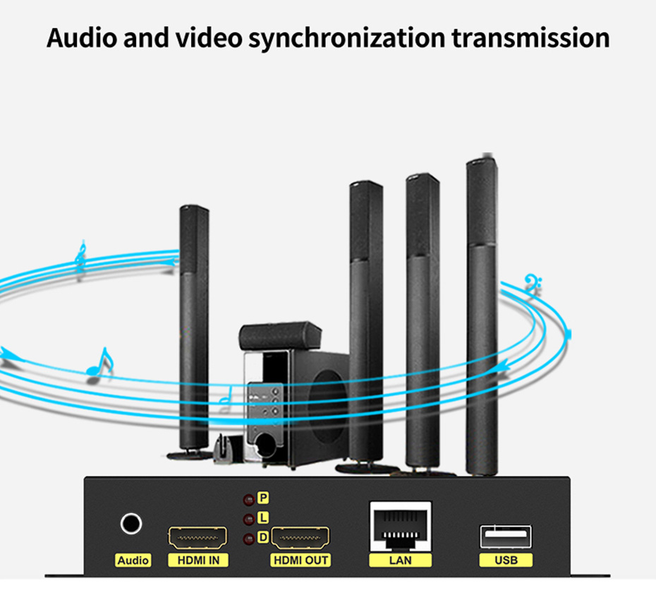 HDMI KVM Network Extender (HKU200 supports audio and video synchronization