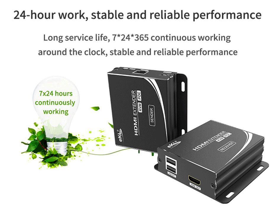 HDMI KVM single network cable extender HU12 supports 7*24 hours of work