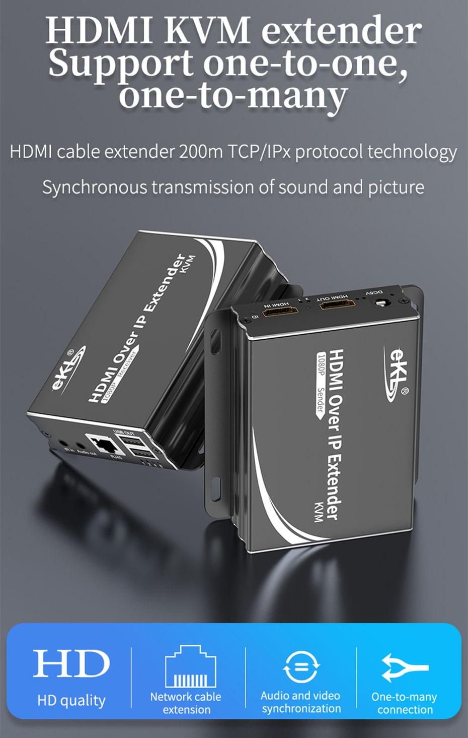 HDMI KVM extender 1 to many / many to many HU150