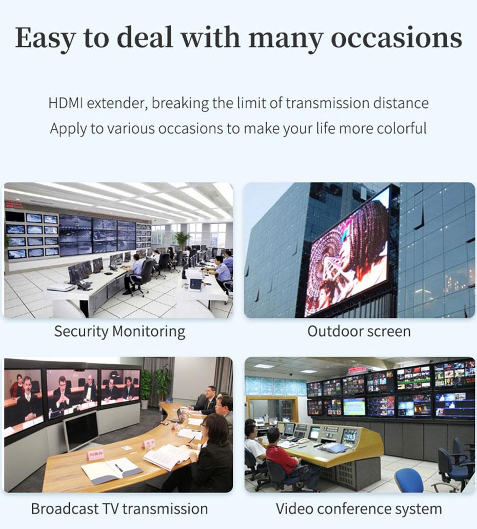 HDMI KVM Extender 1 to Many/Many to Many HU150 Application Scenarios