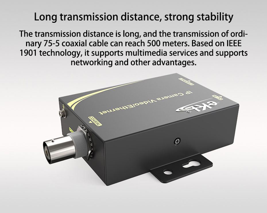 IP network coaxial transmitter NCR200 supports networking, multimedia services, etc.