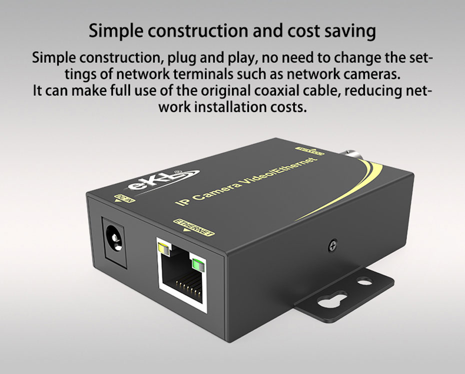 IP network coaxial transmitter NCR200 is simple to construct and save costs