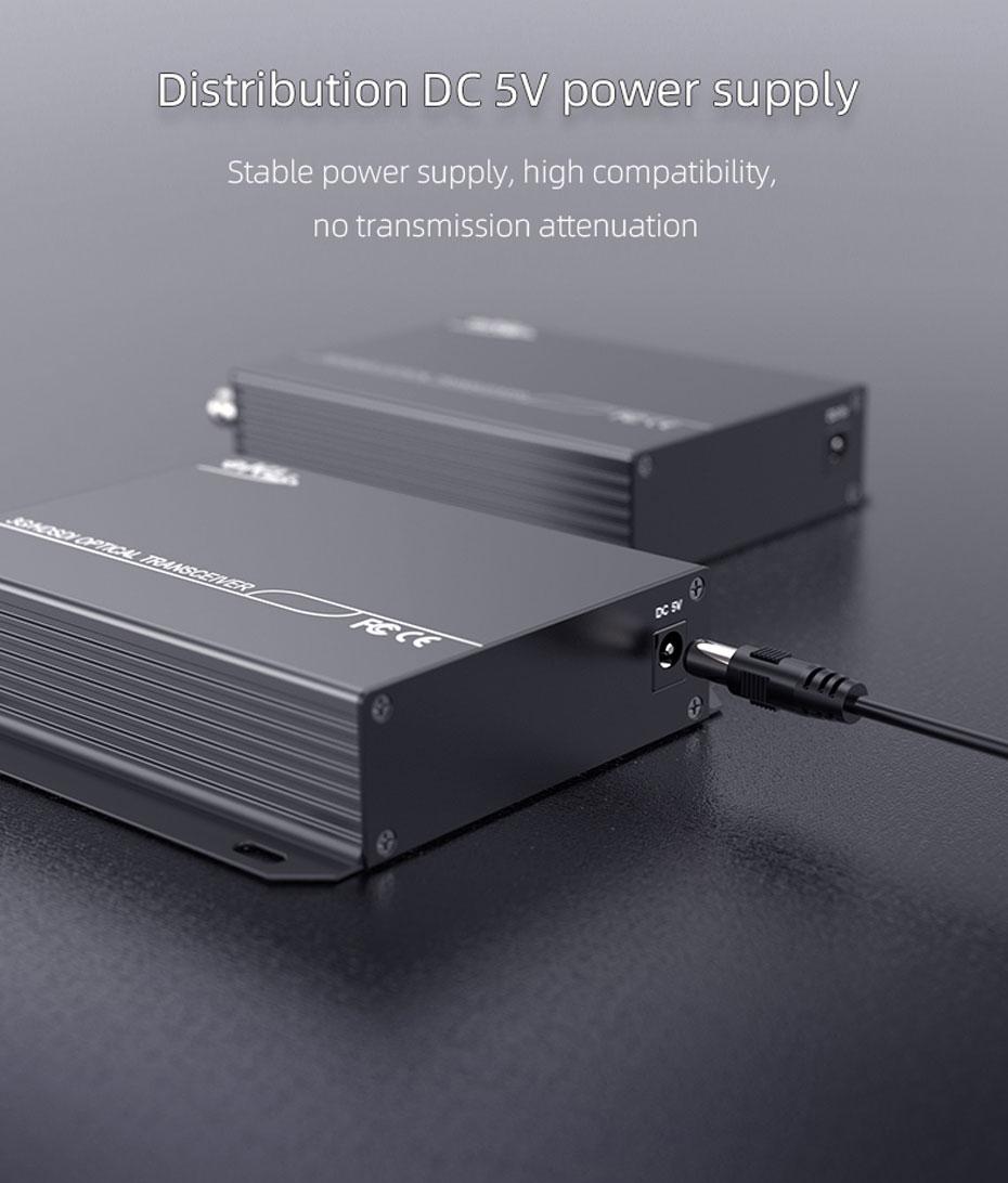 20km SDI optical transceiver SDF01 uses DC 5V power supply