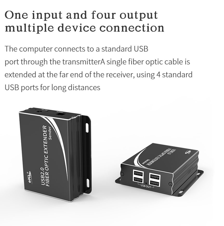 USB fiber optic extender UF01 supports 1 in 4 out