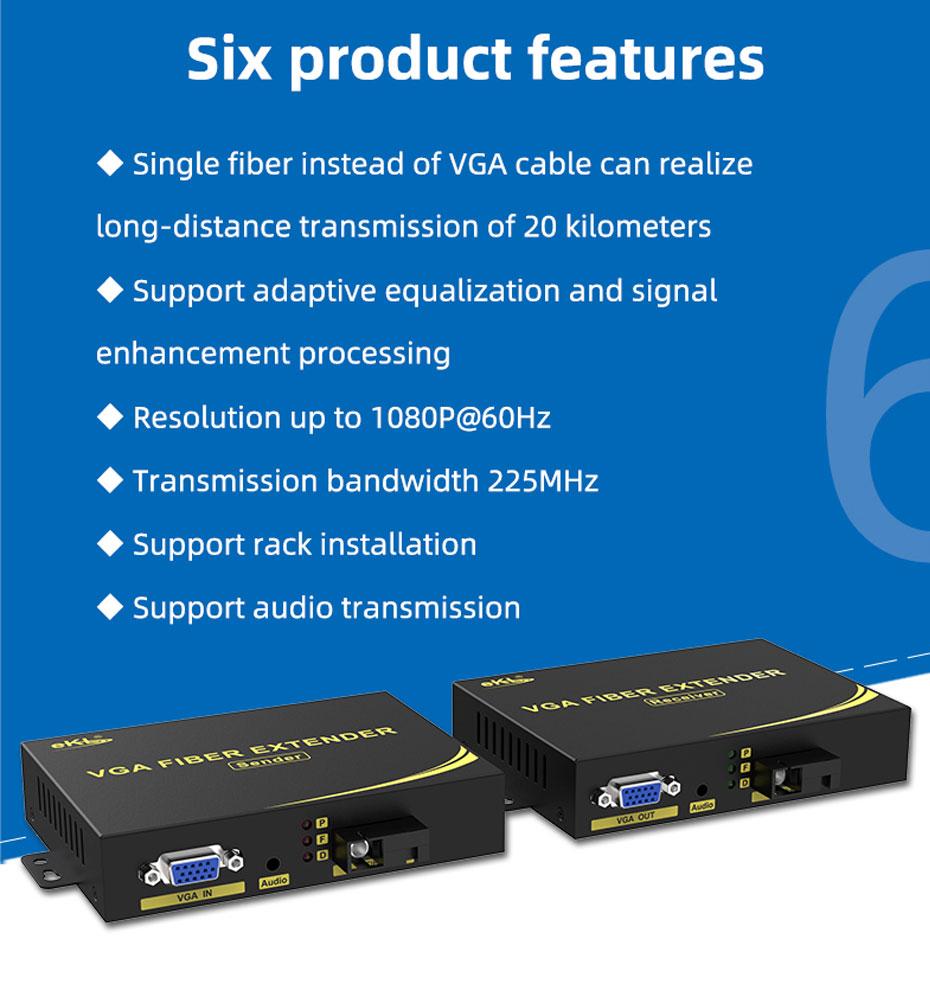Six features of VGA fiber optic extender VF200