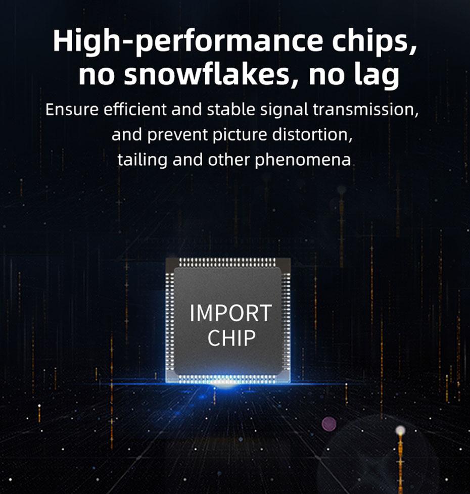 VGA fiber optic extender VF200 uses high-performance chips