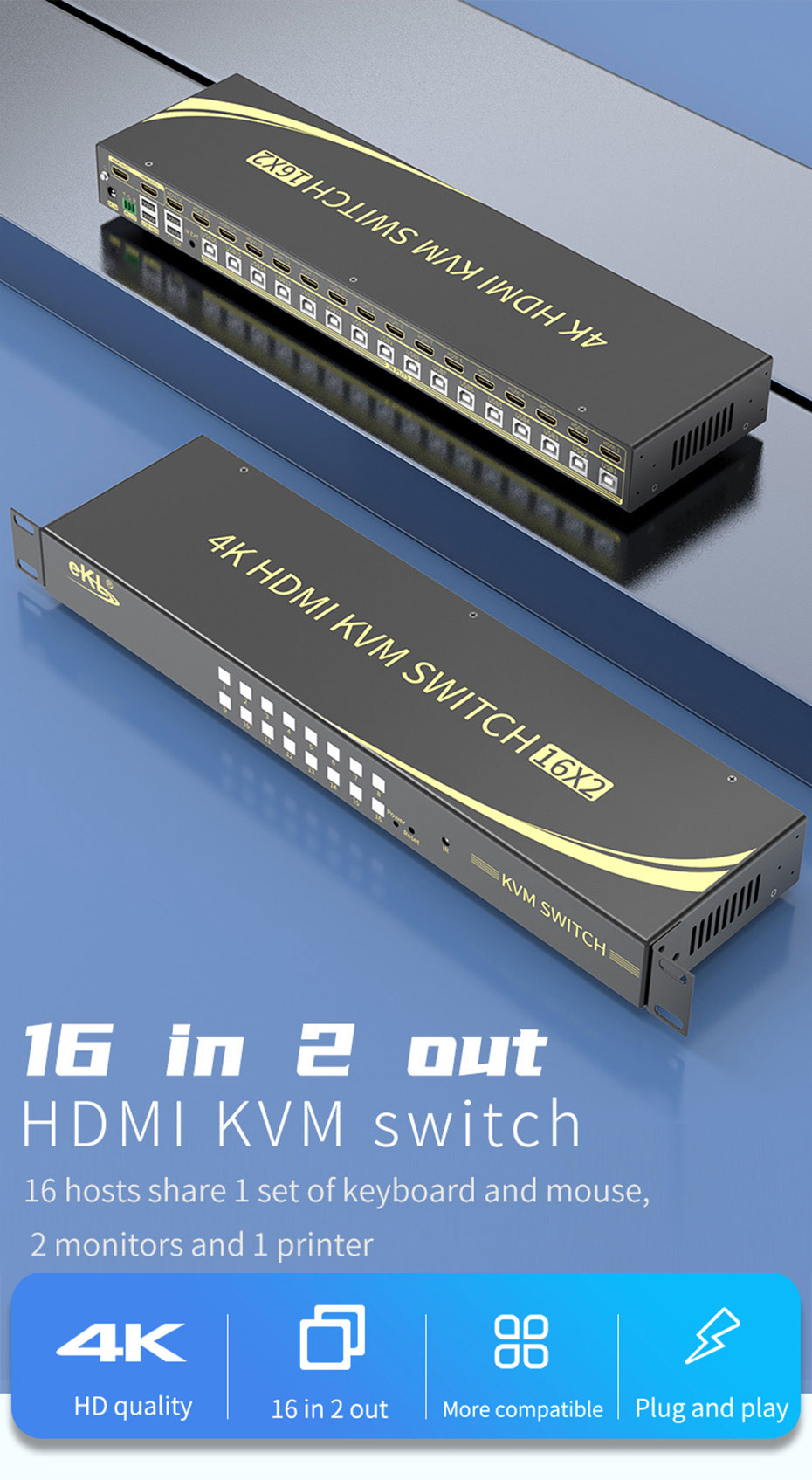 16进2出HDMI KVM切换器161HK