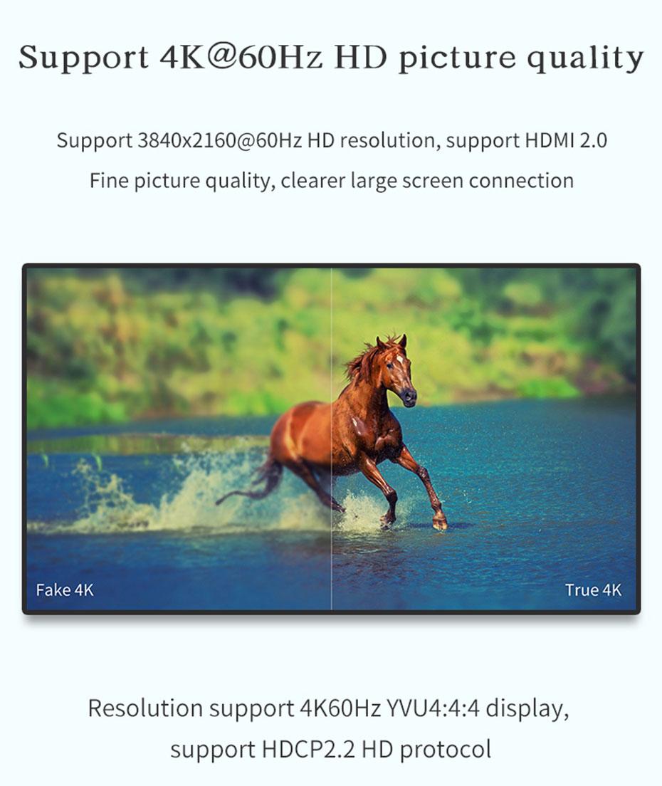 16口HDMI KVM切换器161HK支持4k@60Hz、2560*1440@144Hz分辨率