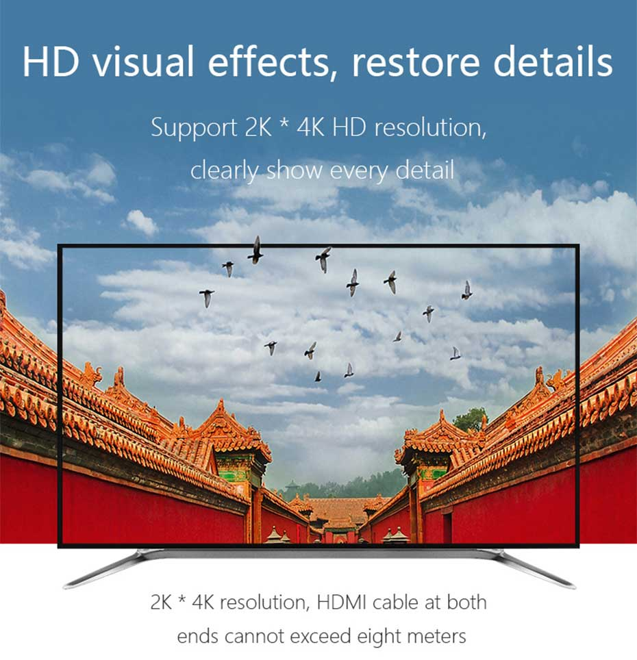 2 in 1 out HDMI KVM switch 21hk2.0 supports 2k * 4k HD resolution