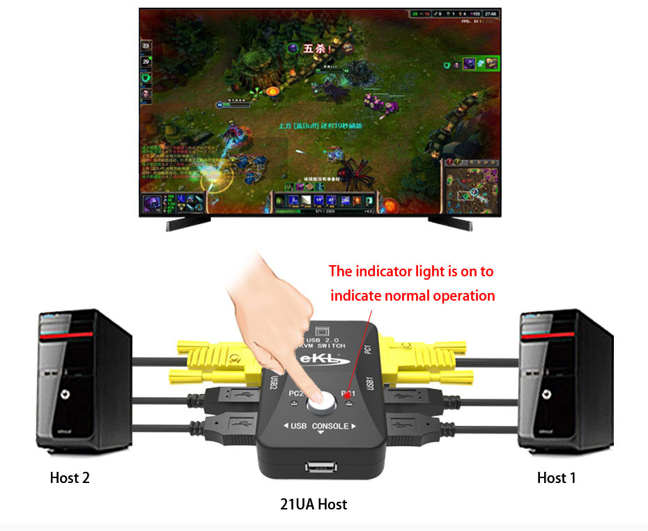 Large button easy to switch