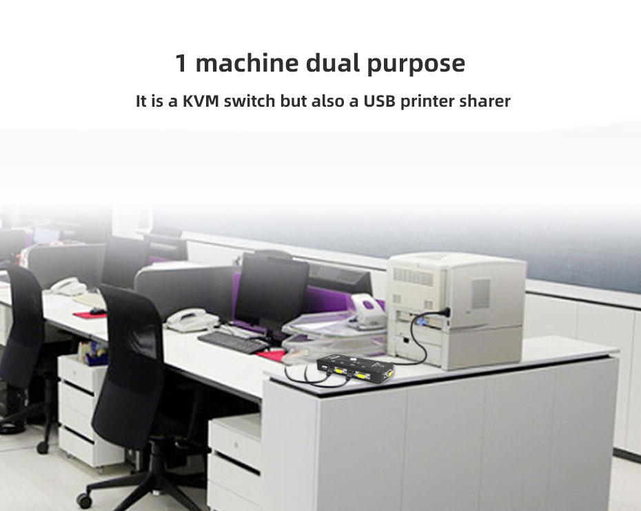 VGA KVM switch 4 in 1 out 41UA 1 machine multi-purpose
