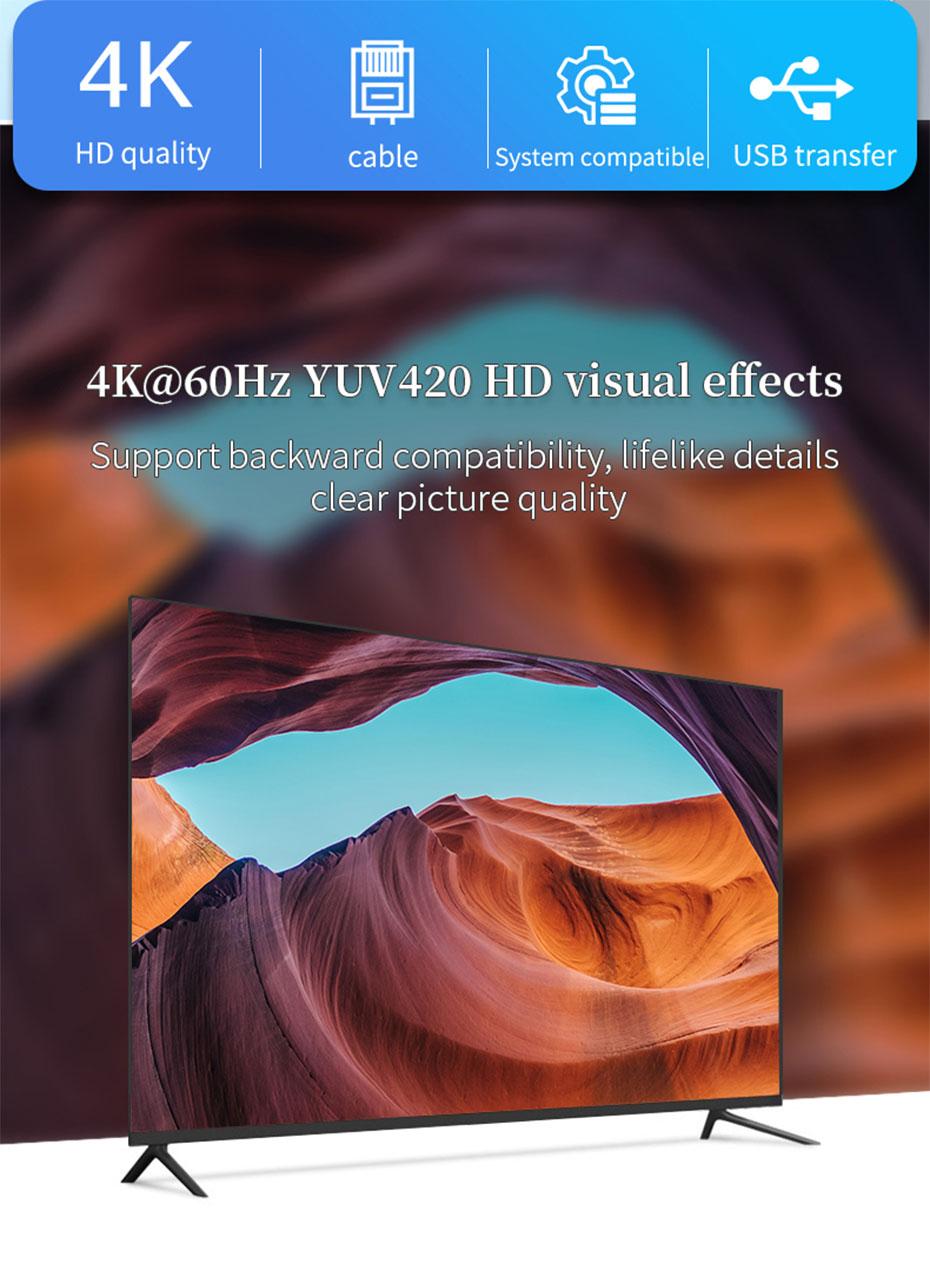 100m DVI KVM single network cable extender DCK100 supports 4K@60Hz HD resolution