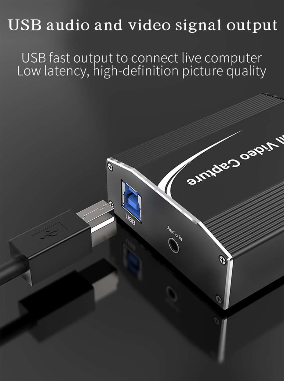 HDMI video live capture card 1805 uses USB to transmit audio and video signals