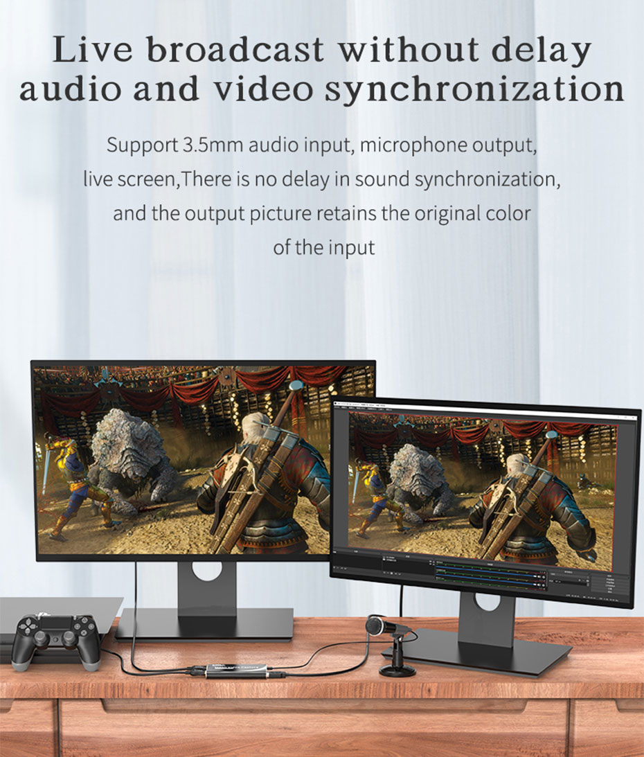 HDMI capture card/USB video capture card HUC03 supports audio and video synchronization