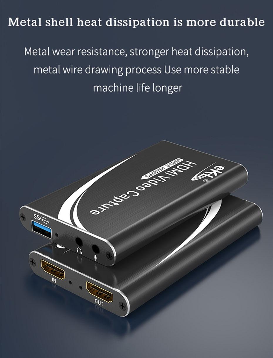 HDMI capture card/USB video capture card HUC03 adopts metal design