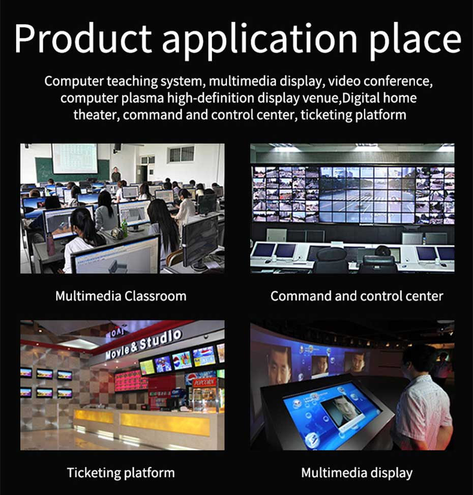 HDMI matrix 4 in 2 out 412H some application scenarios