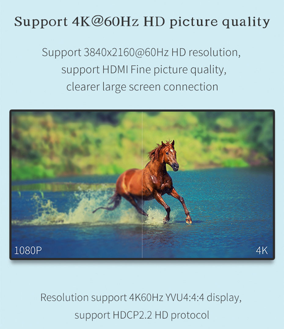 4 port HDMI matrix 4 in 4 out 414HN supports 3840*2160p@60Hz resolution