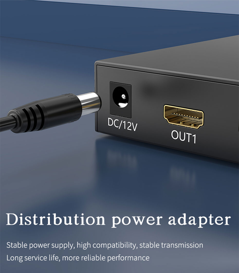 4 port HDMI matrix 4 in 4 out 414HN distribution power adapter