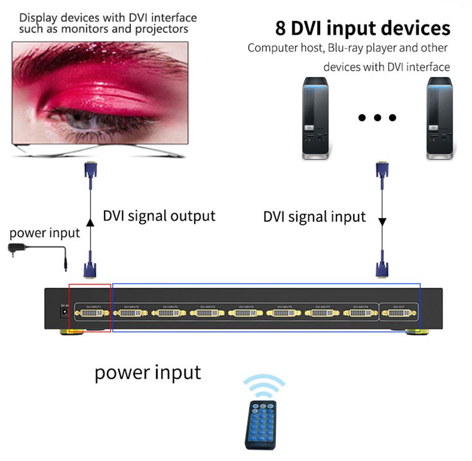 DVI switch 81D connection diagram