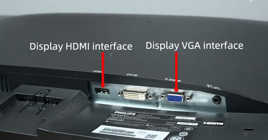 Display HDMI and VGA interface