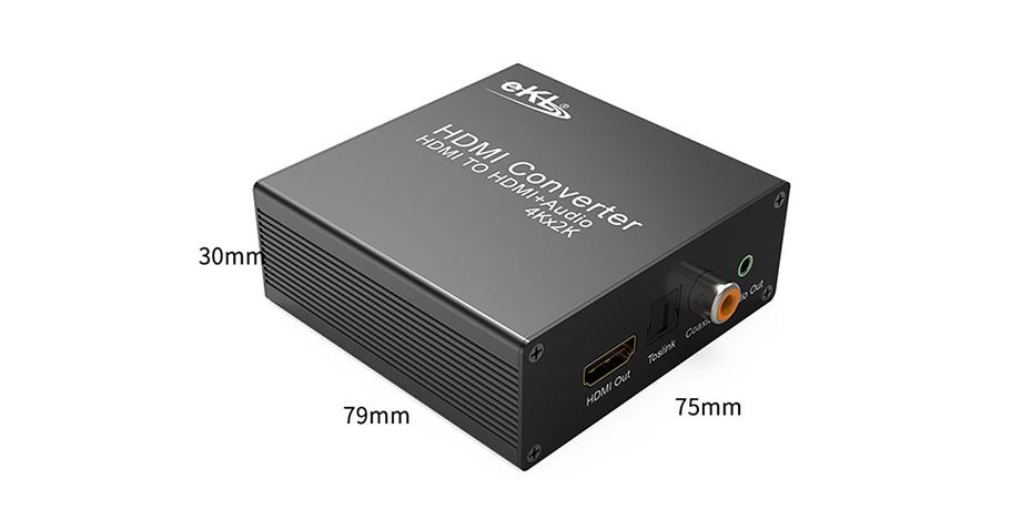 HDMI audio splitter HHA size chart
