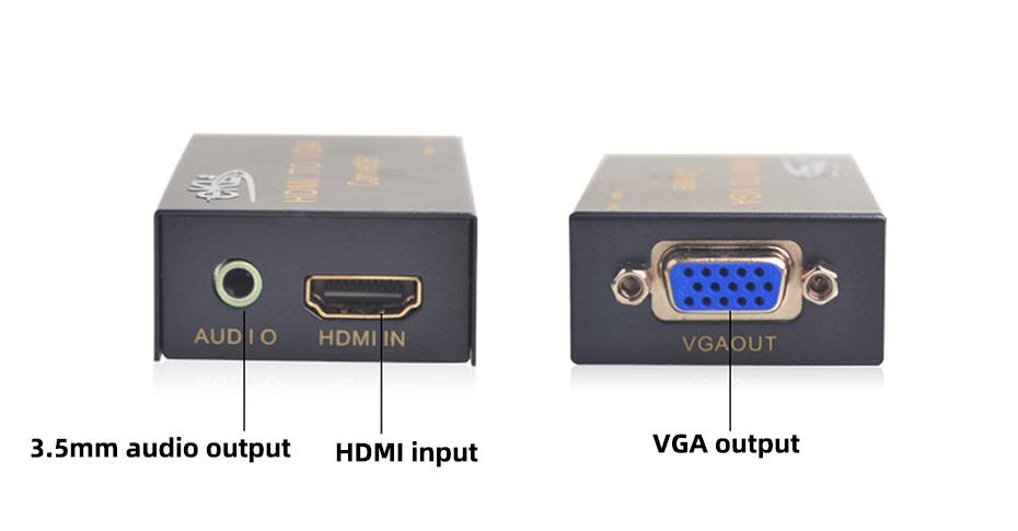 HDMI to VGA converter with audio HV02 interface description