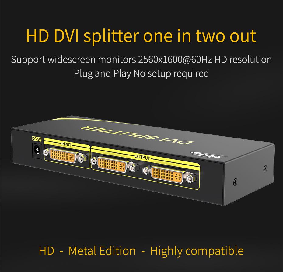 DVI splitter 1 in 2 out 102D