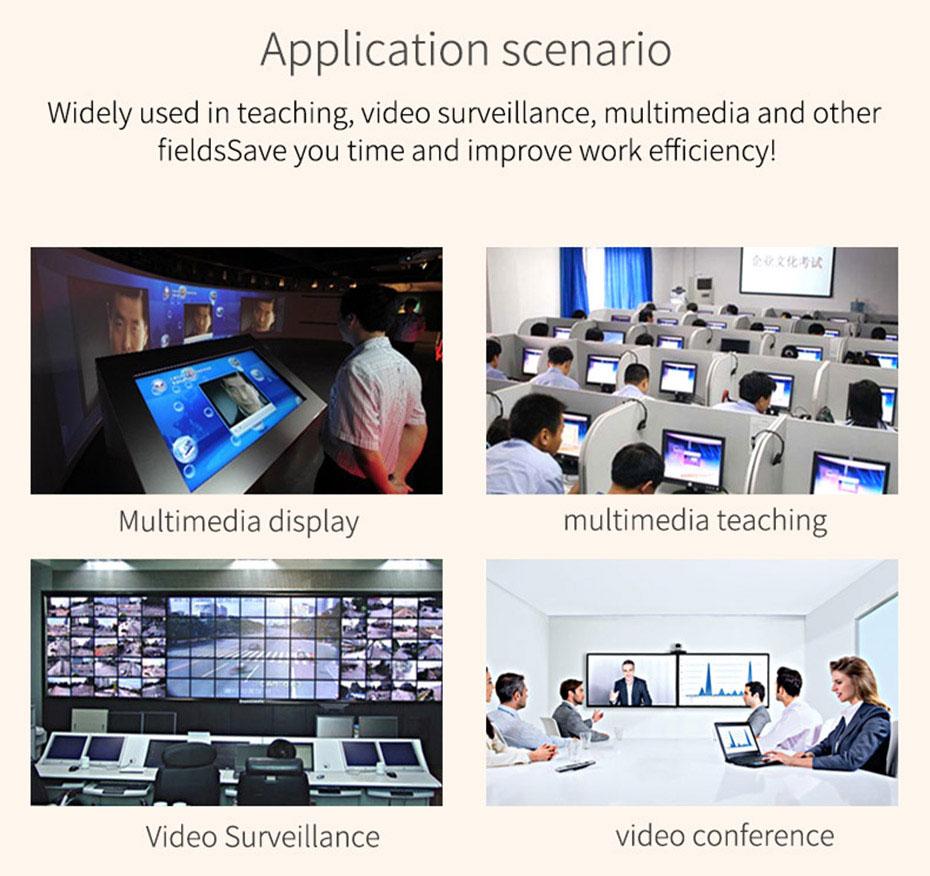 DVI splitter 1 in 8 out 108D application scenarios