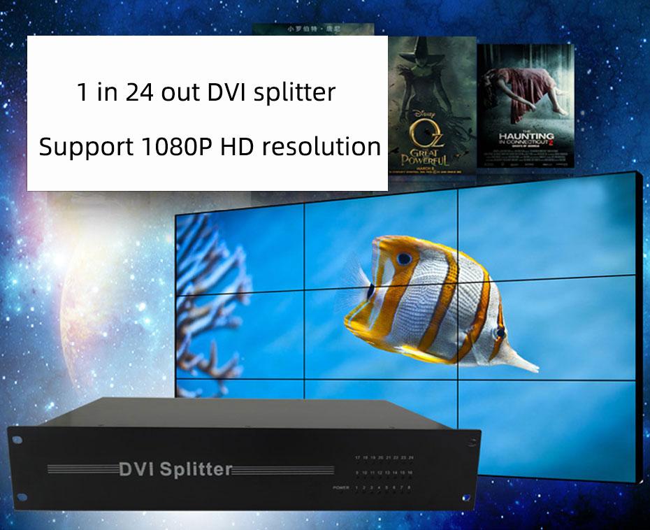 DVI splitter 1 in 24 out 124D