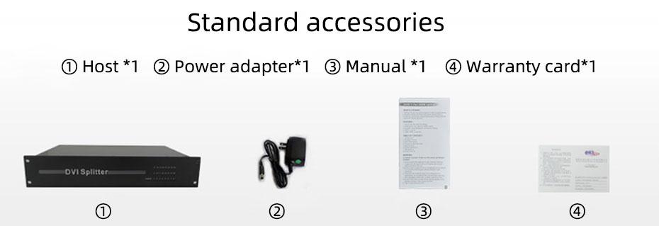 24-port DVI splitter 124D standard accessories