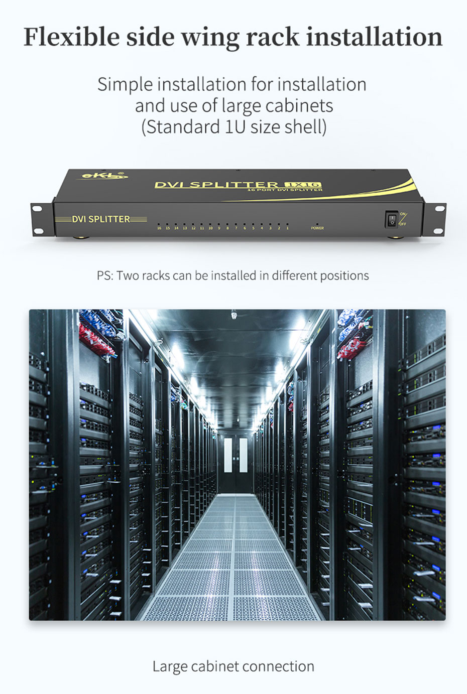 DVI splitter 1 in 16 out 161D application scenarios