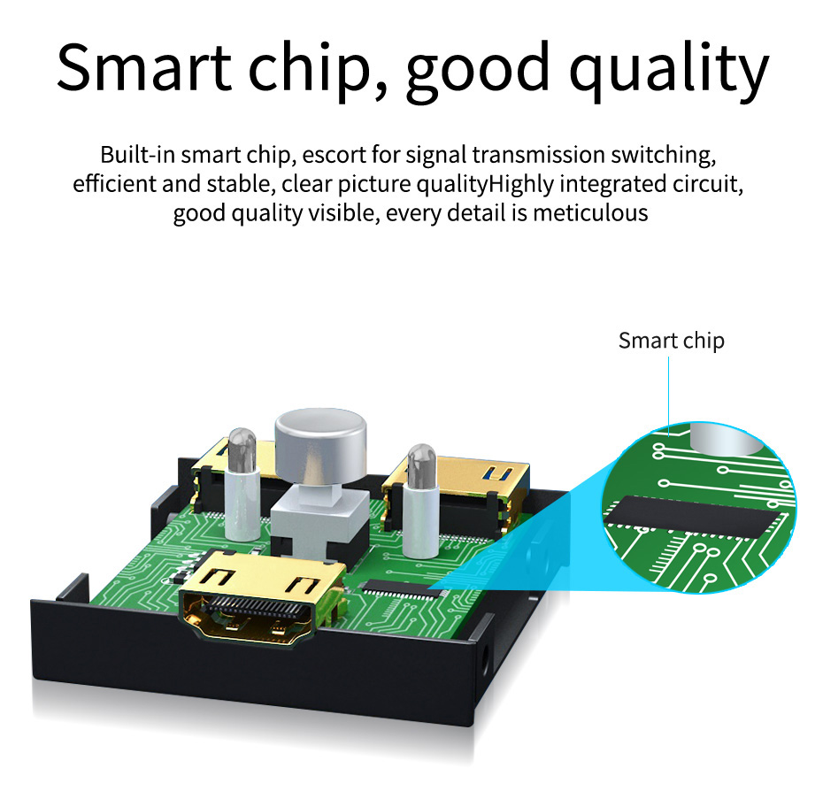 2 in 1 out / 1 in 2 out HDMI switching distributor 2H built-in smart chip