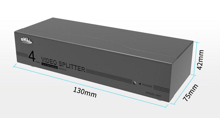 4-port VGA splitter 94H length: 130mm;: 75mm;: 42mm